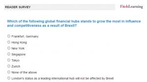 Quelle place financière va le plus bénéficier des conséquences du Brexit au détriment de Londres ?